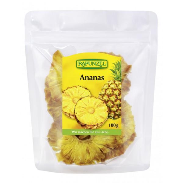 Ananas rondele feliat uscat bio