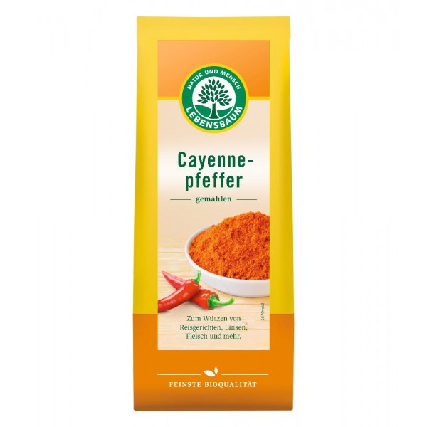 Ardei iute Cayenne macinat bio