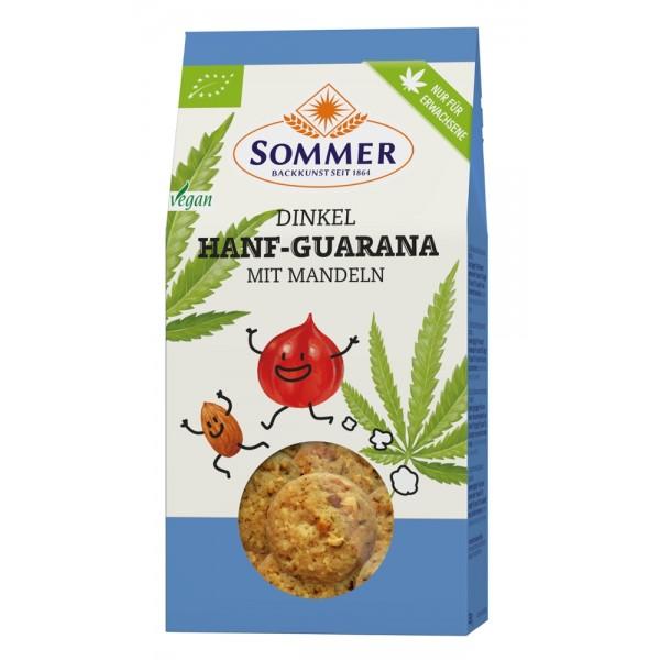 Biscuiti din spelta cu canepa, guarana si migdale bio