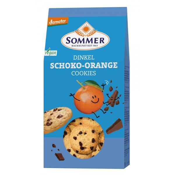 Biscuiti din spelta cu ciocolata si portocale bio