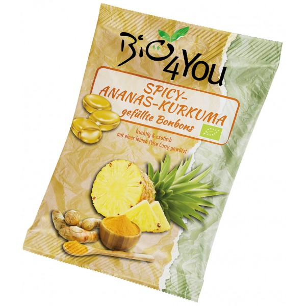 Bomboane picante cu ananas si curcuma FARA GLUTEN bio