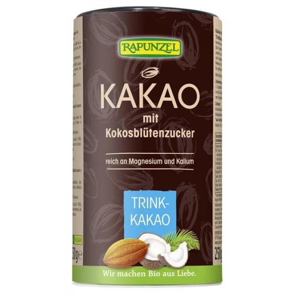 Cacao cu zahar din nuca de cocos bio