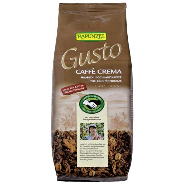Cafea Gusto Crema boabe bio