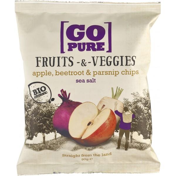 Chipsuri din fructe si legume cu sare de mare FARA GLUTEN bio
