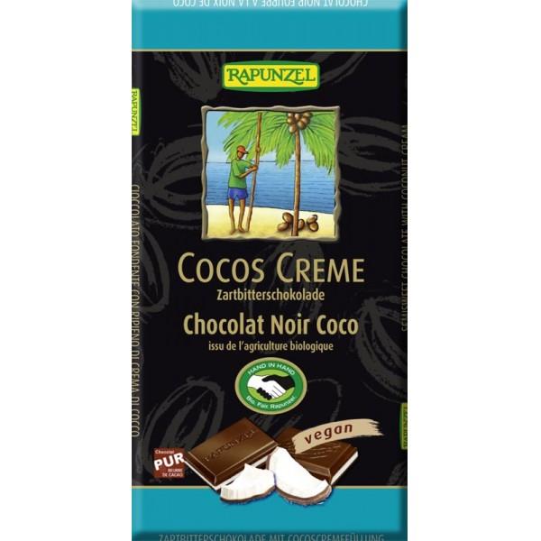 Ciocolata amaruie cu umplutura de crema de cocos VEGANA bio