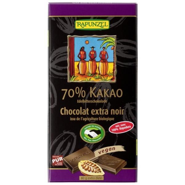 Ciocolata amaruie 70% cacao VEGANA bio