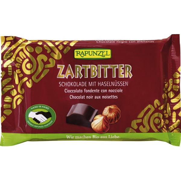 Ciocolata amaruie 60% cacao si alune intregi VEGANA bio