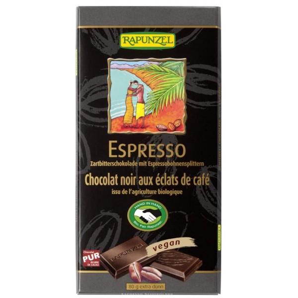 Ciocolata amaruie cu Espresso 55 % cacao VEGANA bio