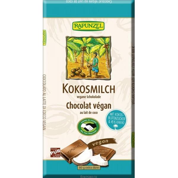 Ciocolata cu lapte de cocos bio