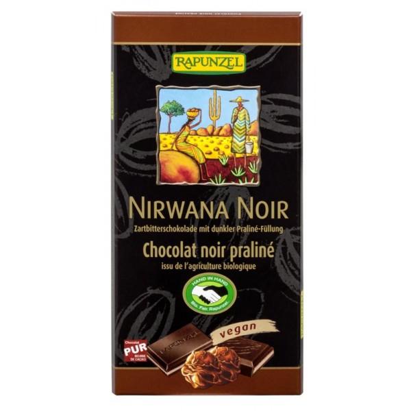 Ciocolata Nirwana neagra cu praline 55% cacao VEGANA bio
