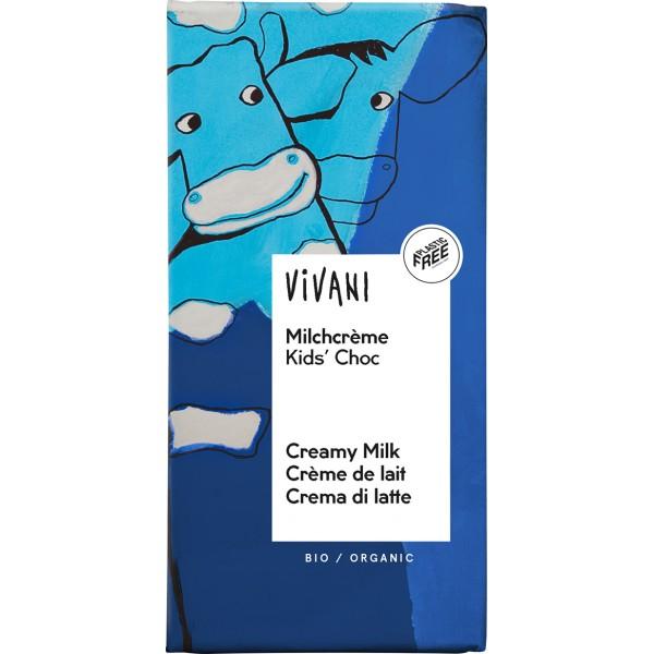 Ciocolata cu crema de lapte pentru copii bio