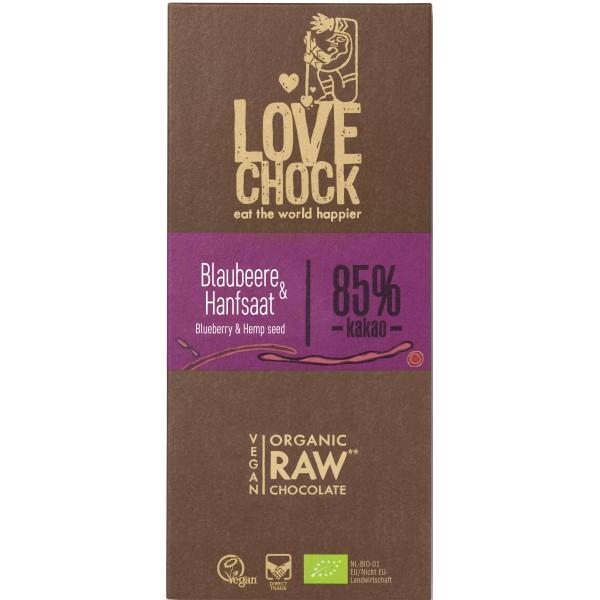 Ciocolata RAW VEGANA cu afine si seminte de canepa bio
