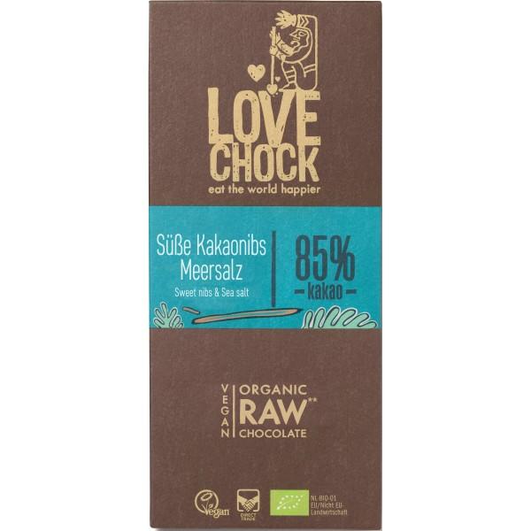 Ciocolata RAW VEGANA cu sare de mare bio
