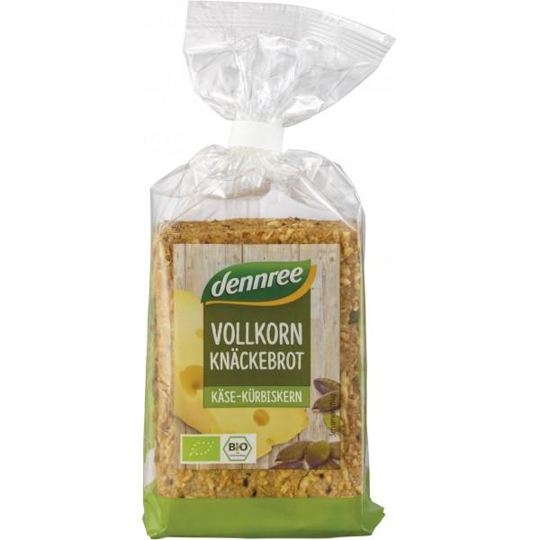 Crackers integrali cu branza si seminte de dovleac bio