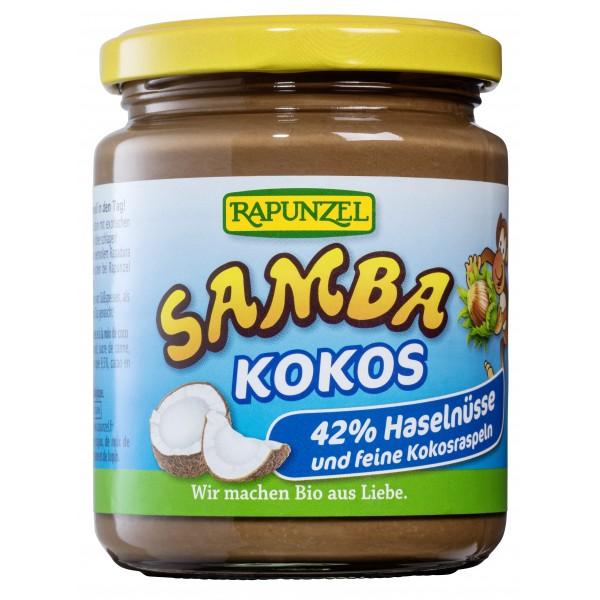 Crema de ciocolata cu alune si cocos Samba bio