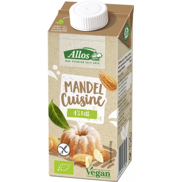 Crema de migdale lichida pentru gatit FARA GLUTEN bio