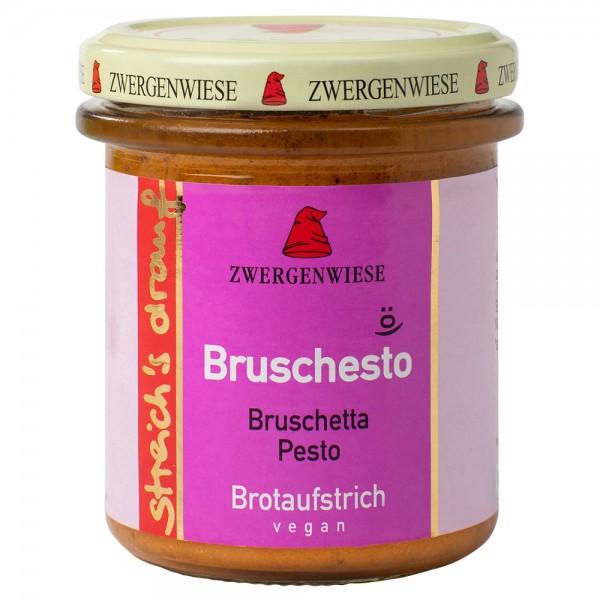 Crema tartinabila vegetala Bruschesto cu bruscheta si pesto bio