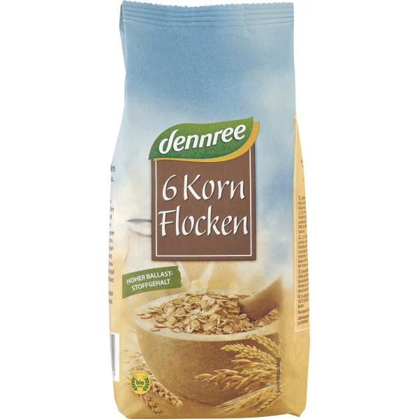 Fulgi din 6 cereale bio