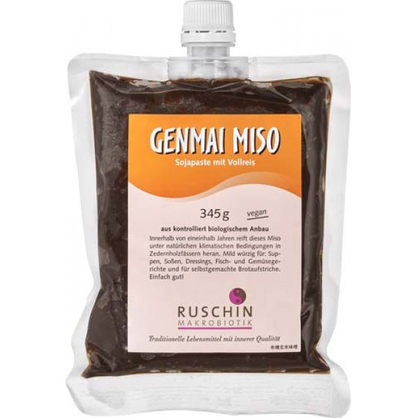 Pasta din soia si orez Genmai Miso nepasteurizata bio