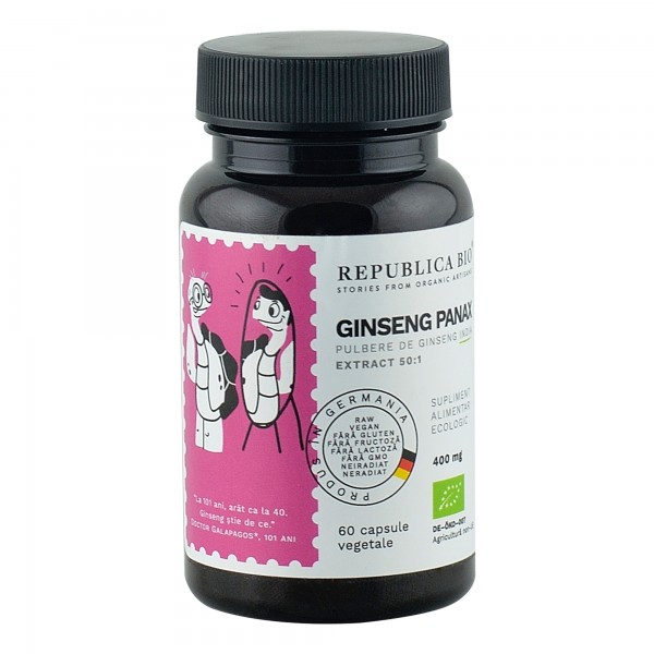Ginseng Panax extract 50:1, 60 capsule bio