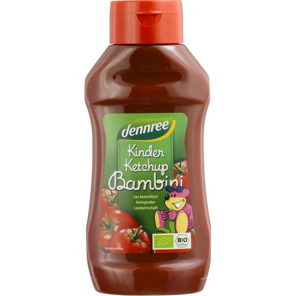 Ketchup pentru copii indulcit cu nectar de agave bio