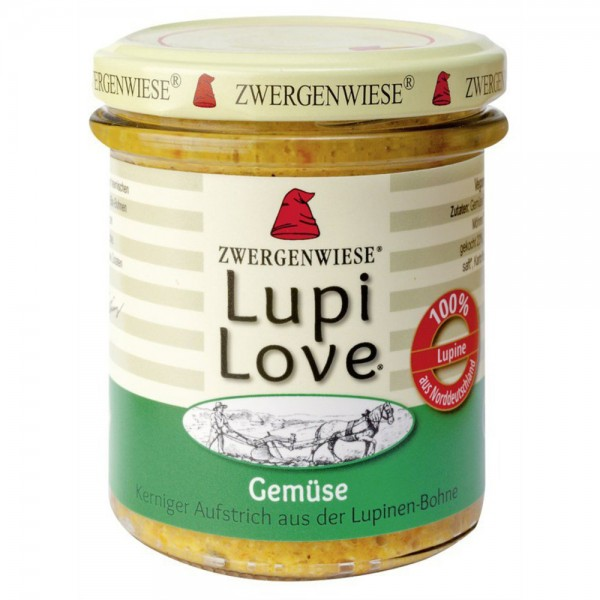 Lupi Love crema tartinabila cu lupin si legume FARA GLUTEN bio