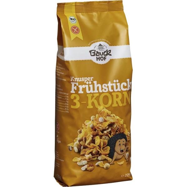 Mic dejun crocant cu 3 cereale fara gluten bio