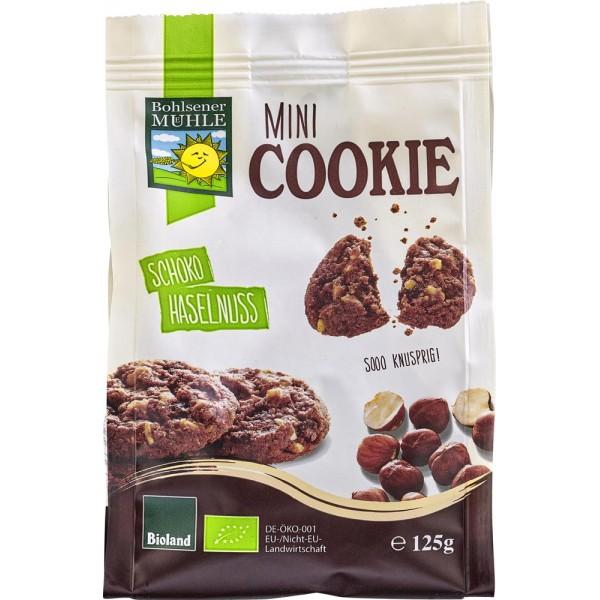 Mini biscuiti cu ciocolata si alune bio
