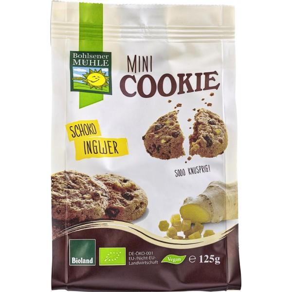 Mini biscuiti vegani cu ciocolata si ghimbir bio