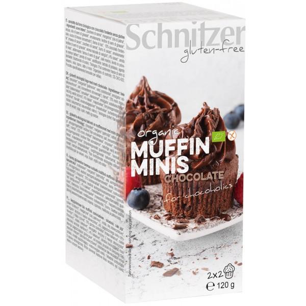 Mini muffins cu ciocolata FARA GLUTEN bio
