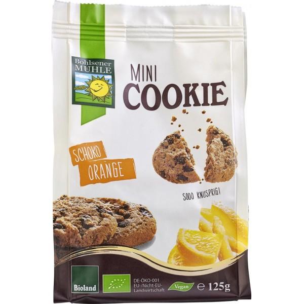 Mini biscuiti vegani cu ciocolata si portocale bio