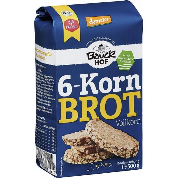Mix de faina pentru paine integrala cu 6 cereale bio