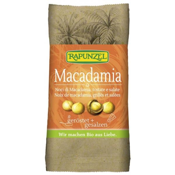 Nuci Macadamia prajite si sarate bio