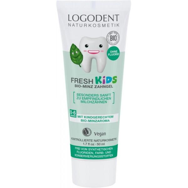 Pasta de dinti gel cu menta pentru copii