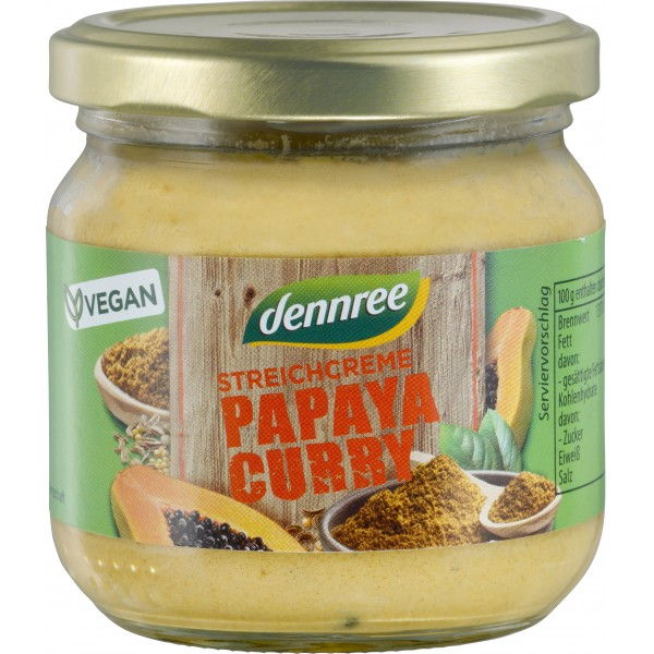 Pate vegetal cu papaya si curry bio