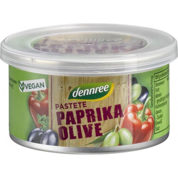 Pateu vegetal cu ardei si masline bio