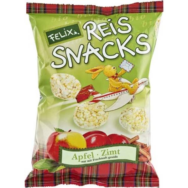 Snacks din orez cu mere si scortisoara FARA GLUTEN bio