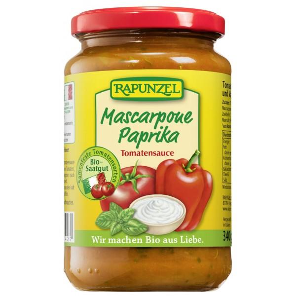 Sos de tomate Mascarpone si ardei bio