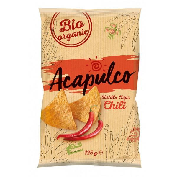 Tortilla chips cu chili bio