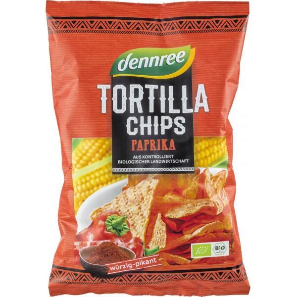 Tortilla chips cu ardei bio