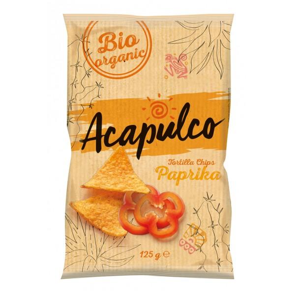 Tortilla chips cu boia bio