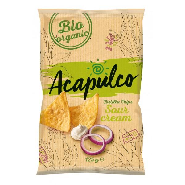 Tortilla chips cu smantana si ceapa bio