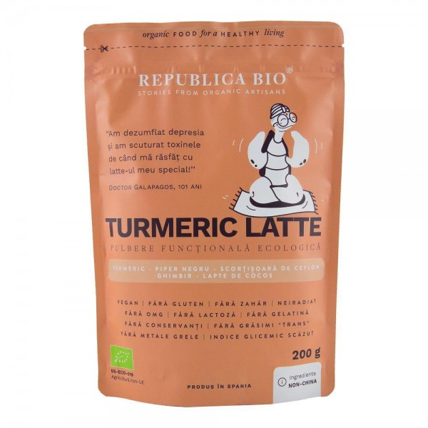 Turmeric Latte, pulbere functionala bio