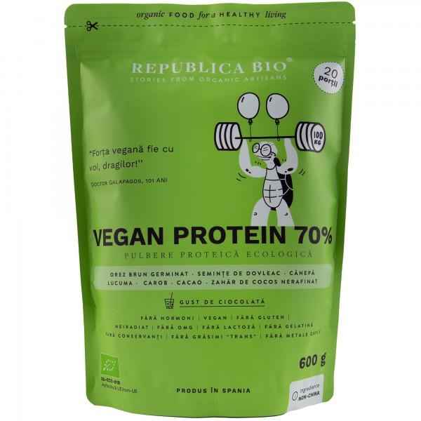 Vegan protein 70%, pulbere functionala bio