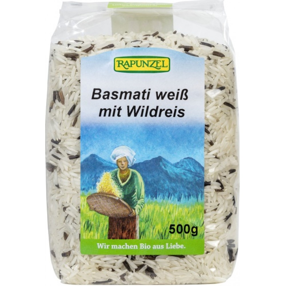Amestec de orez Basmati alb si salbatic