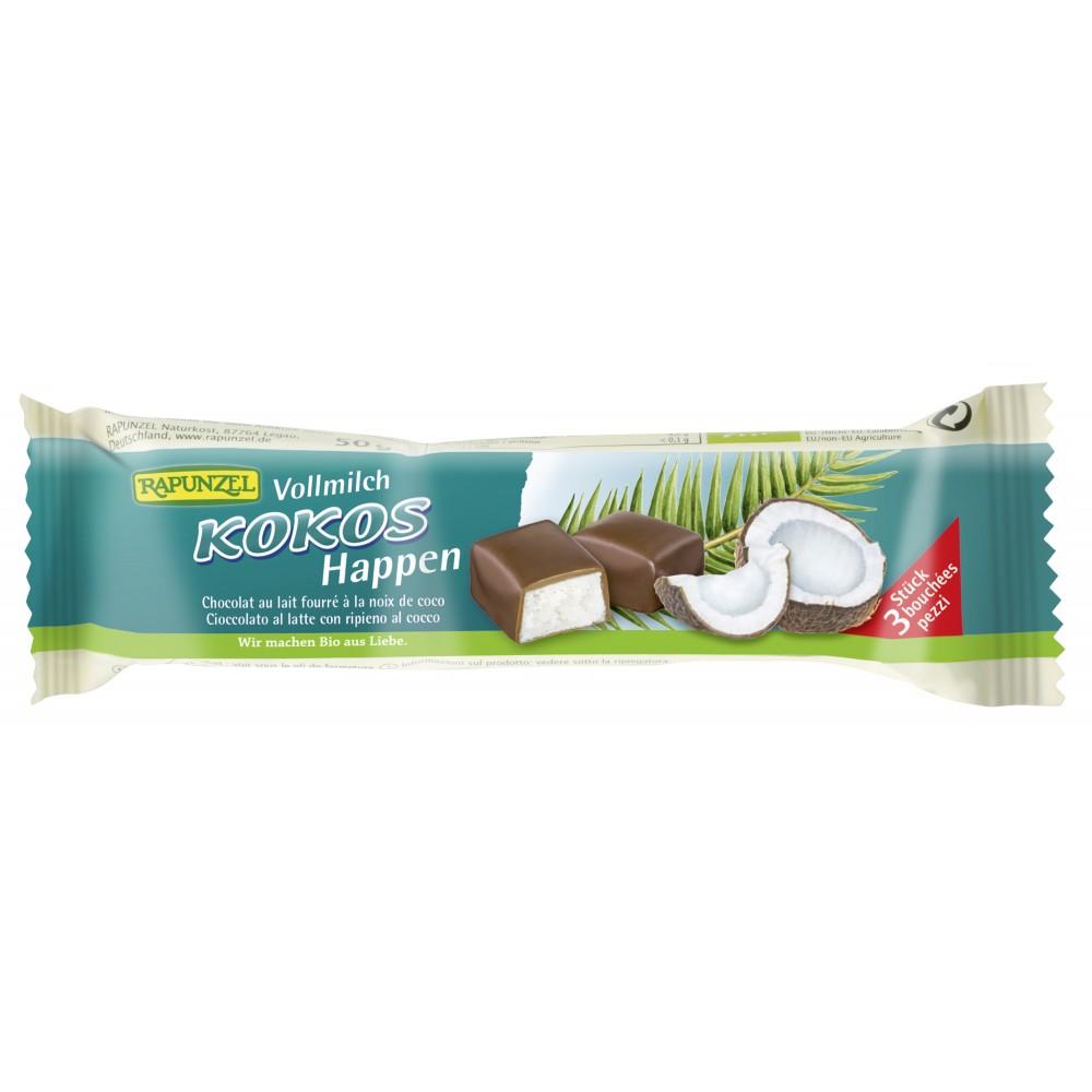 Baton de cocos cu glazura din lapte integral bio