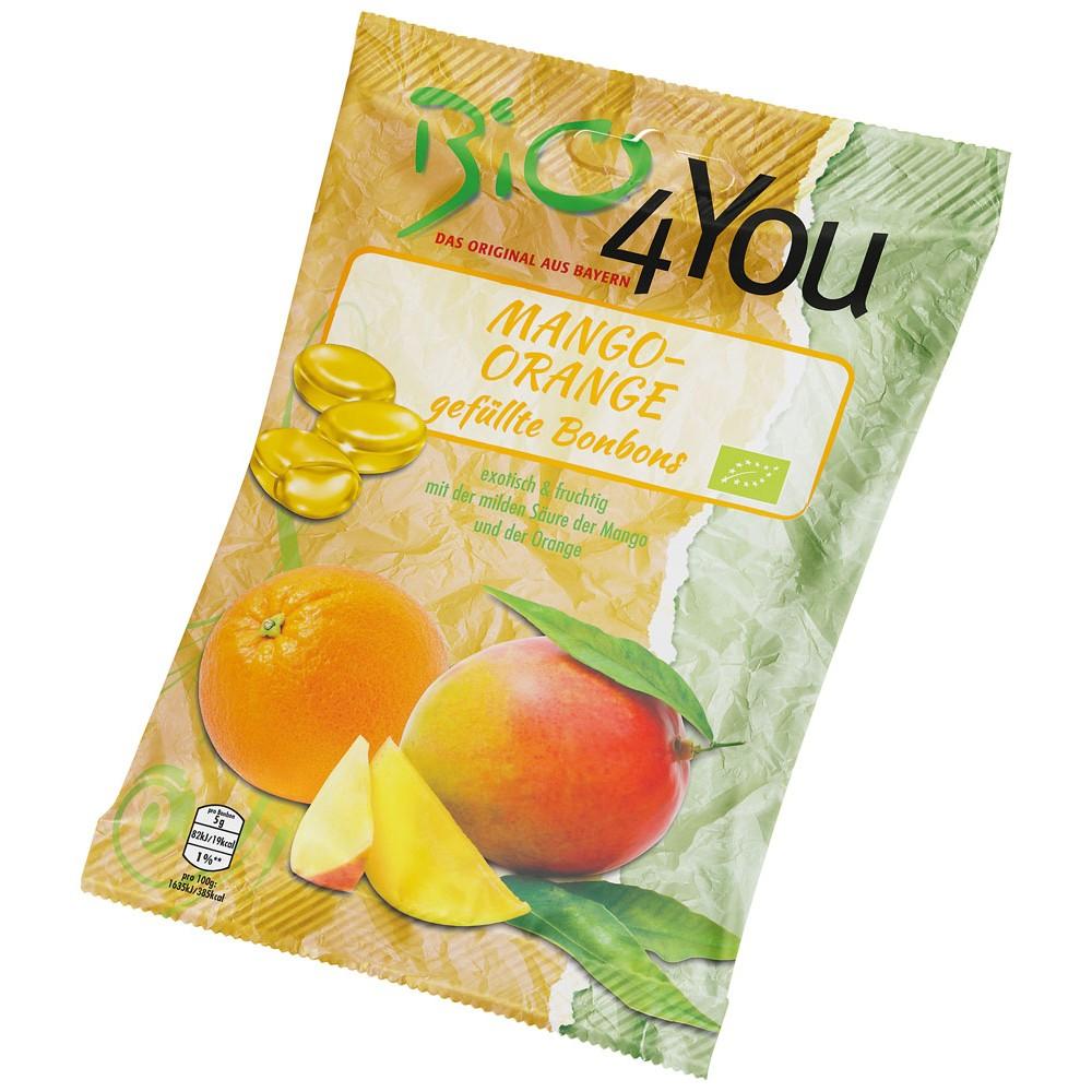 Bomboane bio cu mango si portocala