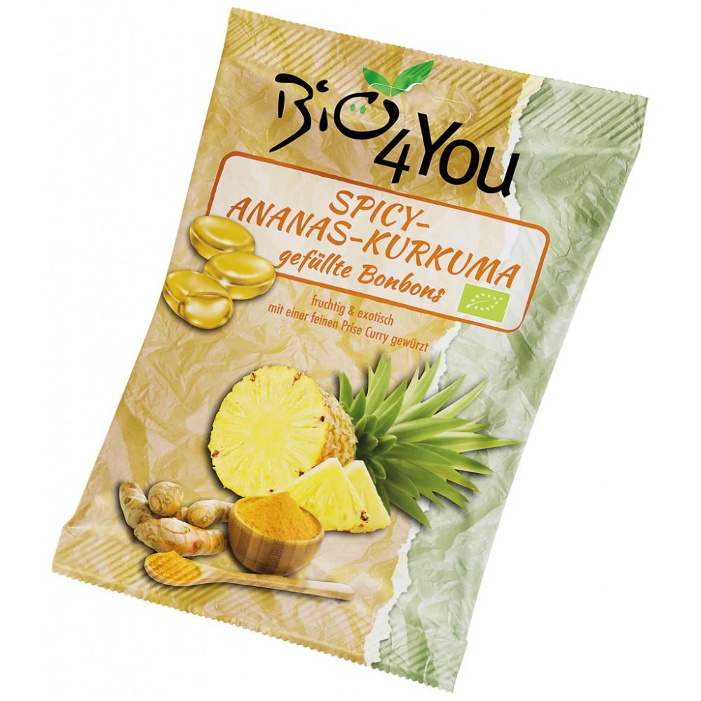 Bomboane picante cu ananas si curcuma