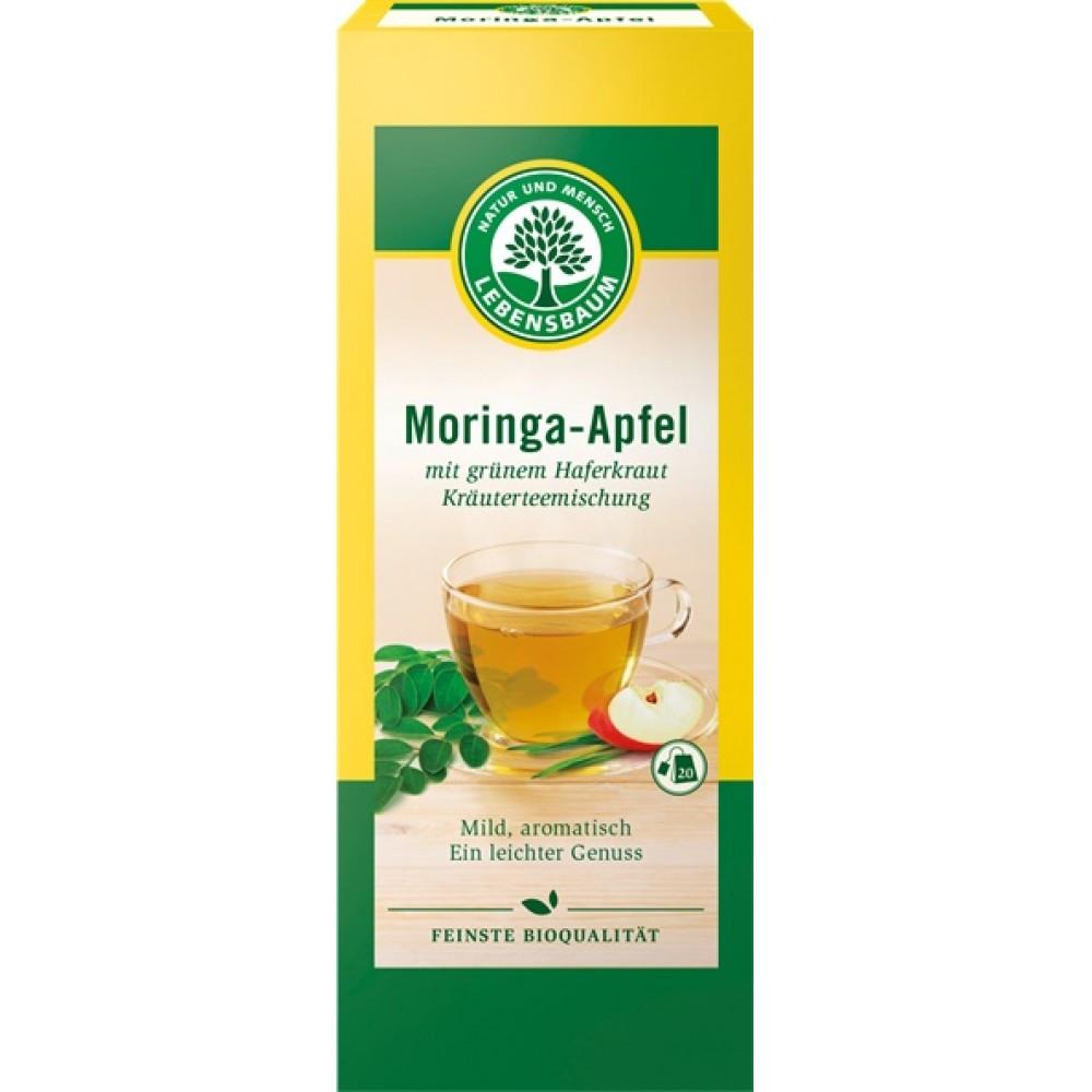 Ceai bio de moringa si mere ecologic