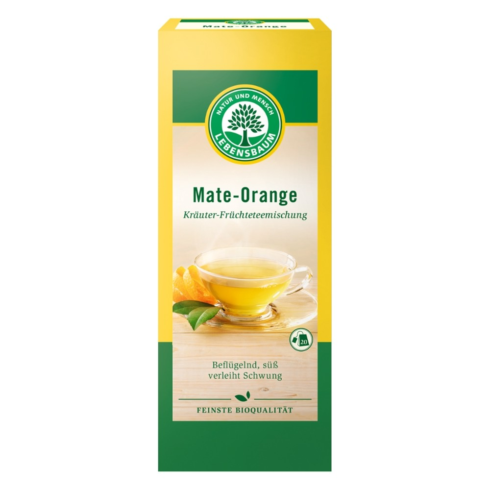 Ceai de Mate si portocala x20 plicuri bio